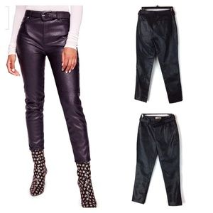 Vegan leather belted Free People pants